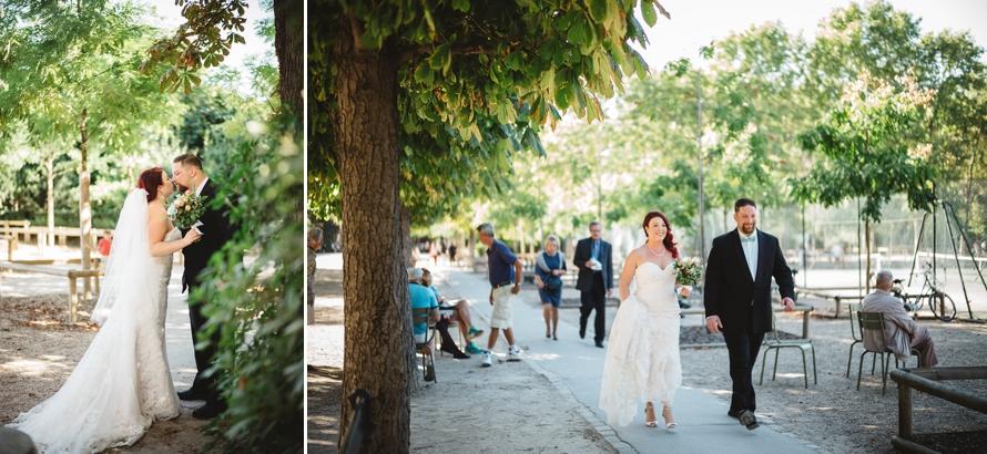 Destination elopement in Paris Luxembour Gardens