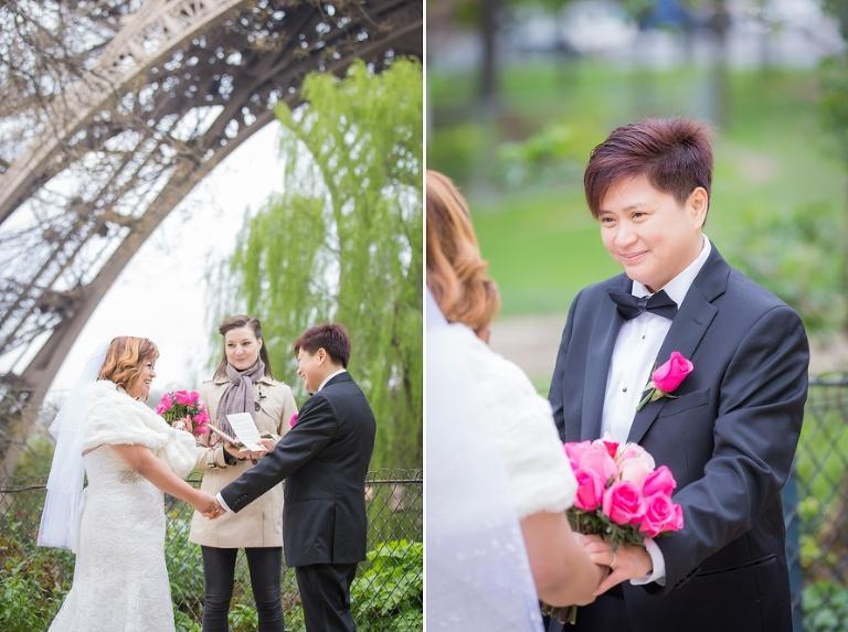 Lesbian wedding in Paris same sex wedding