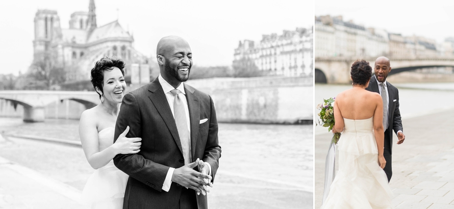 Paris elopement first look