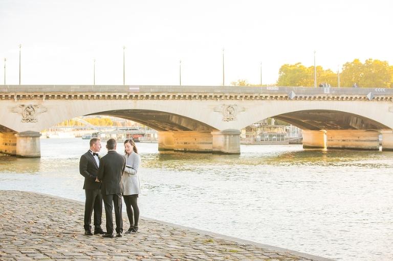 gay wedding in paris seine riverside