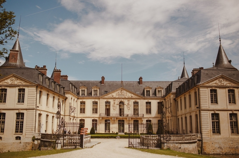 Wedding ceremony in France French chateau