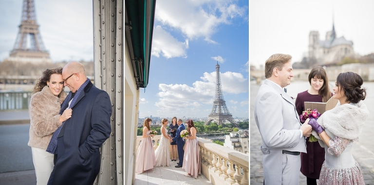 vow renewal ceremony in Paris