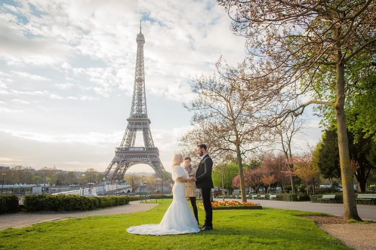 Sunrise Eiffel Tower Wedding